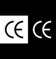ce icon symbol european certificate mark vector image
