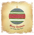 christmas ball card design vector image vector image