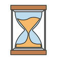 colorful silhouette of sand clock icon vector image vector image