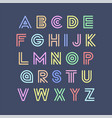 colorful striped funny font english vector image vector image