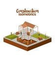 construction isometrics design vector image vector image