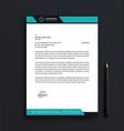 corporate letterhead template design vector image vector image