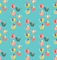 Cute birds in bright colors vector image vector image