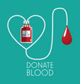donate blood concept plastic bag transfusion vector image vector image