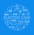 electric cars round in thin vector image vector image