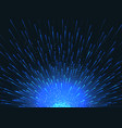 exploding star in space abstract blue vector image vector image