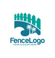 fence logo design stock template vector image