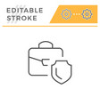 financial insurance editable stroke line icon vector image vector image