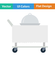 Flat design icon of Restaurant cloche on vector image vector image
