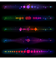 Glittering design elements vector image vector image
