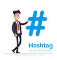 hashtag concept promotion of social networks vector image vector image