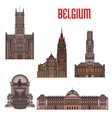Historic buildings and architecture of Belgium vector image vector image