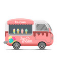 ice cream street food caravan trailer vector image vector image