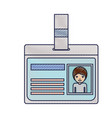 identification card with half body man picture vector image