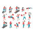 isometric fitness people set