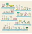 Kitchen set in Stylish design elements of vector image vector image