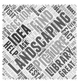 Landscaping Idea Picture Word Cloud Concept vector image vector image