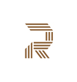 letter R stripes logo vector image