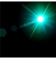 Light flare blue effect vector image vector image