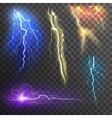 Lightning Transparent Set vector image