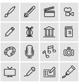line art icon set vector image vector image