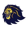 lion head mascot roaring logo icon vector image vector image