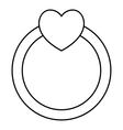 Love ring icon outline style vector image vector image