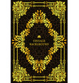 luxury vintage border book cover vector image