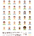 men faces flat icon set vector image vector image
