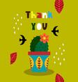 mexican invitation card vector image