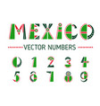 mexico number set vector image
