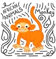 Monkey background isolated vector image vector image
