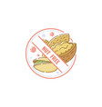 nut free sign for food allergy information vector image