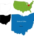 Ohio map vector image