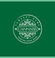 retro vintage cannabis marijuana hemp cbd oil vector image vector image