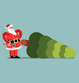 santa chopped down a tree vector image vector image