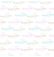 seamless background of color happy easter text vector image