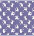 seamless pattern with white rats vector image