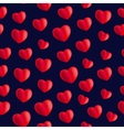seamless stylish red pattern with hearts vector image vector image
