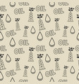 seamless texture with oil rigs vector image vector image