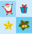 set merry christmas decoration design vector image vector image