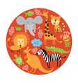 set of animals in round