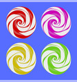 set of colorful sweet candy vector image vector image