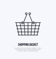shopping basket flat line icons retail vector image vector image