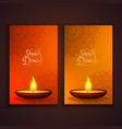 shubh diwali vertical banners set vector image vector image