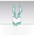 Smiling cartoon rabbit Funny bunny Cute hare vector image vector image