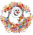 snowman label vector image vector image