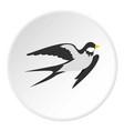 swallow icon circle vector image