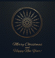 this is a gark and gold christmas background vector image