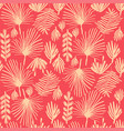 tropical flower duotone seamless background vector image vector image